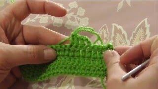 Как вязать соединительный столбик  и для чего он нужен. Вязание крючком для начинающих. Урок 5.