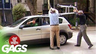 Grandpa Attacks Car!