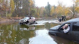 OFF ROAD в озере без разведки Dodge Ram 1500, ШИШИГА, БОМБА часть-1 4X4