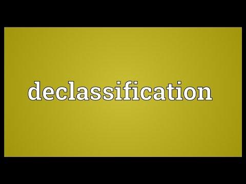 Header of declassification