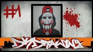 Halloween Graffiti Special #1 - How to draw jigsaw with a cap