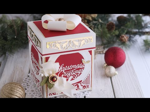 How to Make an Explosion Box | Amazing Paper Grace Becca Feeken | Holiday Gift