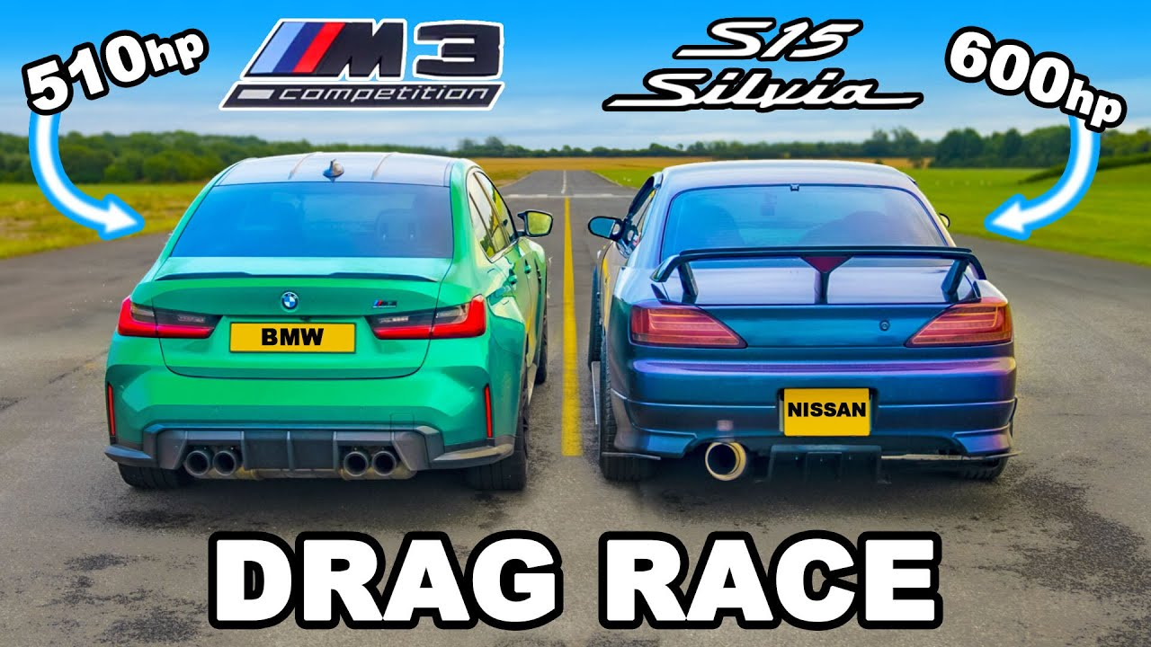 Download BMW M3 v 600hp Nissan Silvia S15: DRAG RACE