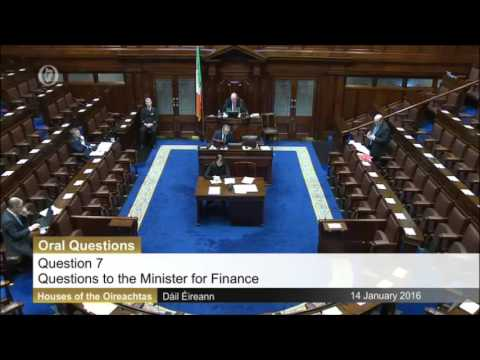 Tommy Broughan T.D questioning Minister for Finance on Quantitative Easing
