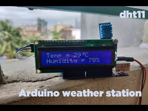 Arduino Weather Station || Dht11 Temperature & Humidity Sensor