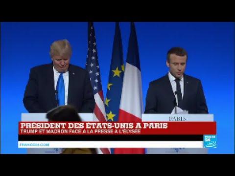 REPLAY - Trump et Macron face à la presse à l'Elysée