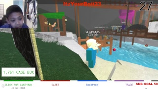 PLAYING ROBLOX ROAD TO 50 SUBS!!!!!!!!!!