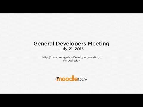 Moodle General Developer Meeting - July 2015