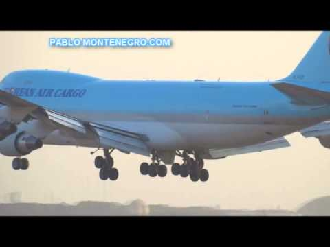 BOEING 747 CARGO, LANDING AT LIMA: Jorge Chavez International Airport Travel Video