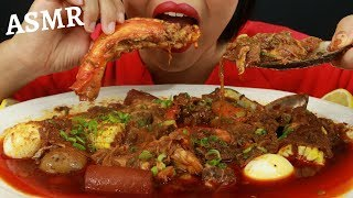 A SOUTHERN BOIL SOAKED IN BLOVES SAUCE ~ ASMR (No Talking) Eat Life With Kimchi