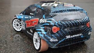 Радиоуправляемая модель Basher BSR 4WD Rally Car на канализационных трубах! Слики на 8 масштаб!