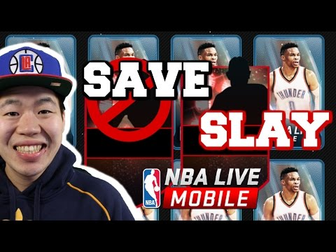 Save or Slay Pack Opening Series - Insane Luck  - Nba Live Mobile