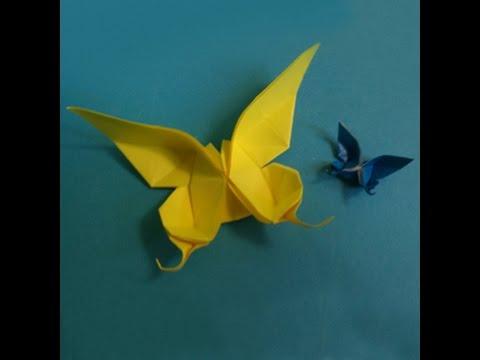 Origami - Xếp bươm bướm - How to make butterfly
