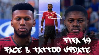 FIFA19 REAL FACE UPDATE - Fred ( face u0026 tattoo )