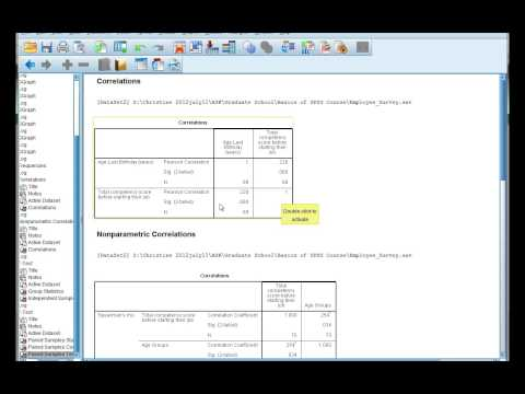 Interpret SPSS output for correlations: Pearsons r