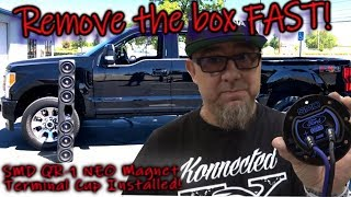 Ultra FAST Subwoofer Box Removal SMD QR-1 Quick Release Neo Magnet Terminal Cup Installed