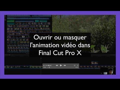 Afficher ou masquer l'animation vidéo dans Final Cut Pro X