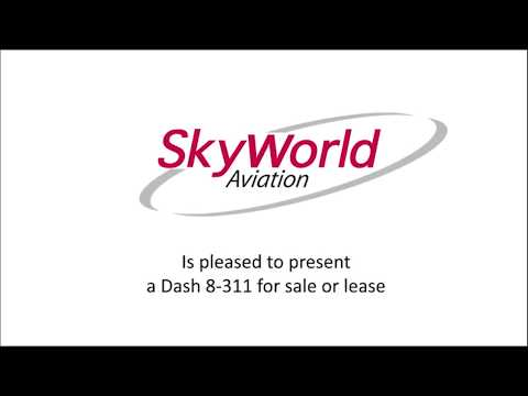 Skyworld Aviation is offering a Dash 8-311 aircraft for sale or lease