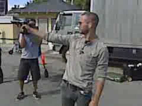 Dark Blue - Logan Marshall-Green demonstrates shooting skills