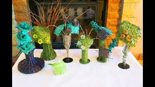 Изготовление цветов и декора из листьев камыша...