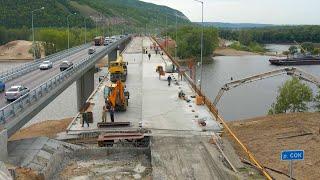 В Самаре ремонтируют мост через реку Сок