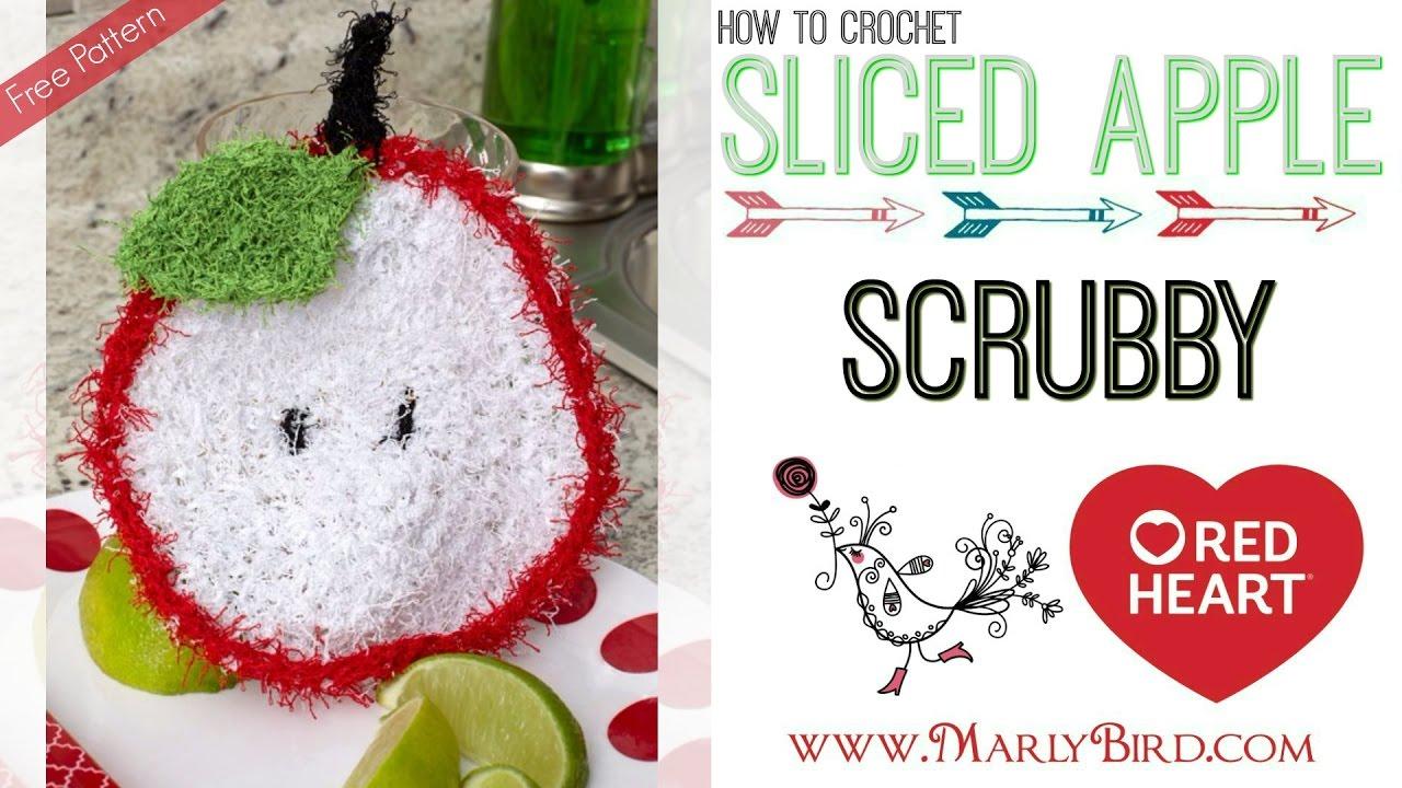 How to Crochet Sliced Apple Scrubby - YouTube