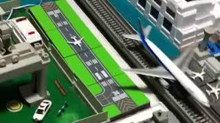 ジオラマ飛行機が着陸します。