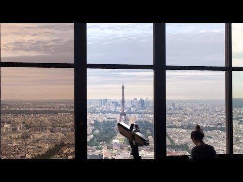 Yoga Class on Top of Montparnasse Tower, Paris, France