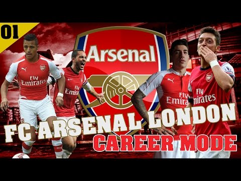 FC ARSENAL LONDON CAREER MODE - EP 1 - FUNNY LONDON STORY
