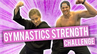 Gymnastics Strength Challenge | Olympics vs NFL