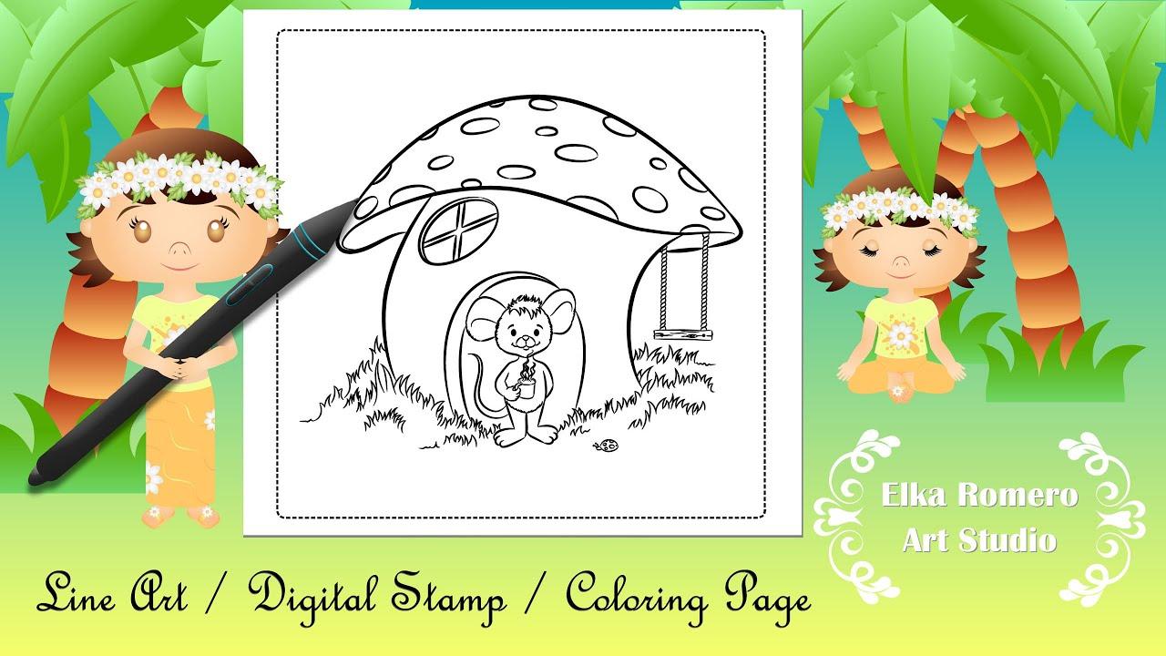 Desenho para colorir - Brinde 1. (Line Art/Digital Stamp/Coloring Page)