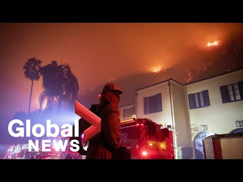 Officials In California Update Getty Fire Near Los Angeles