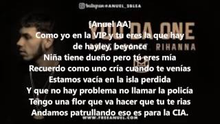 You da one anuel aa ft rihana remix letra