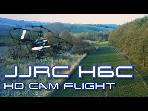 JJRC H6C Quadcopter - HD Onboard Video Sample / Maiden Flight