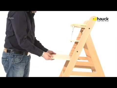 Hauck Alpha Wooden Highchair – Demonstration Video | Nursery Furniture Store