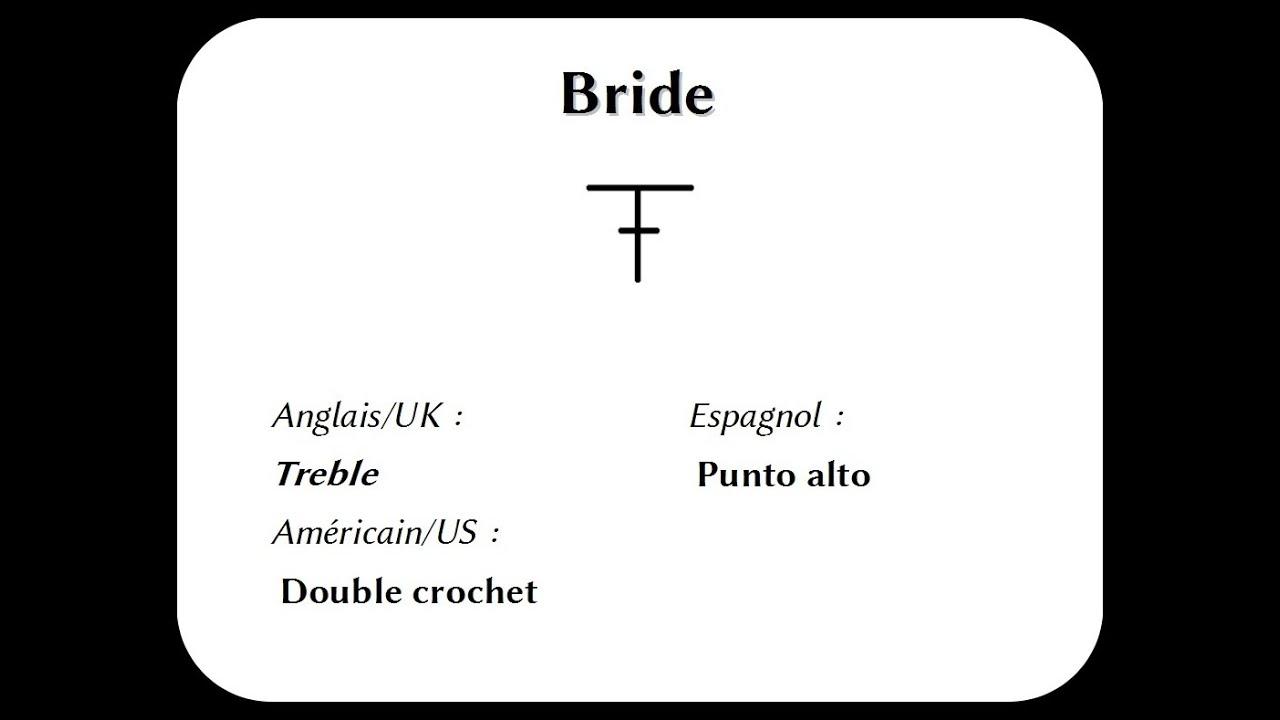les bases au crochet : la bride simple - youtube
