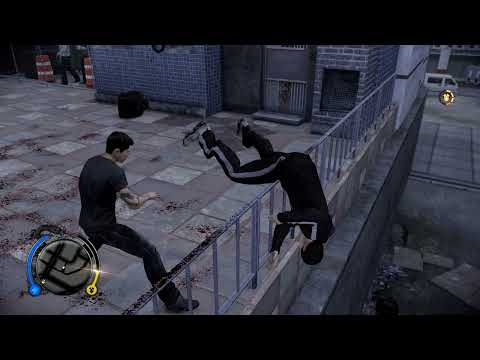 Sleeping Dogs Definitive Edition 2021 - FIGHT CLUB North Point - Throwing everybody of the balcony |