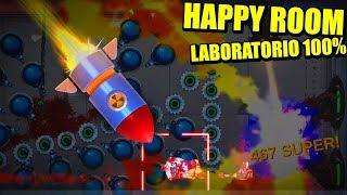 HAPPY ROOM - LABORATORIO 100%, FINALES, LOGROS Y SANDBOX | Gameplay Español