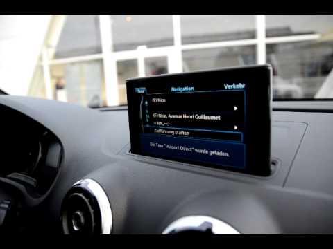audi a3 sportback navi in car navigation system hands on. Black Bedroom Furniture Sets. Home Design Ideas