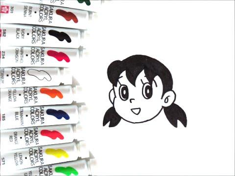 ドラえもんキャラクター しずかちゃんの描き方 How To Draw Doraemon