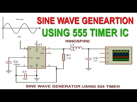 How to Generate Sine Wave using 555 Timer IC ? | Proteus