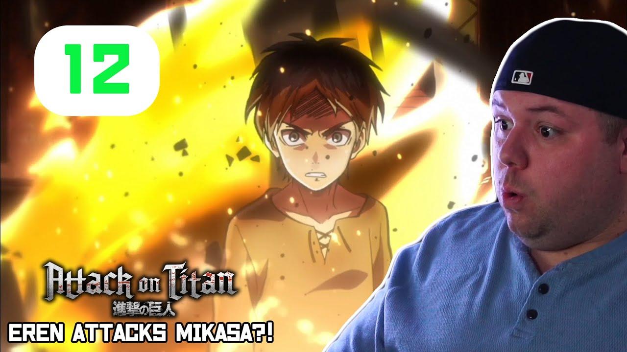 Download Eren Attacks Mikasa?! Attack on Titan Reaction - Episode 12