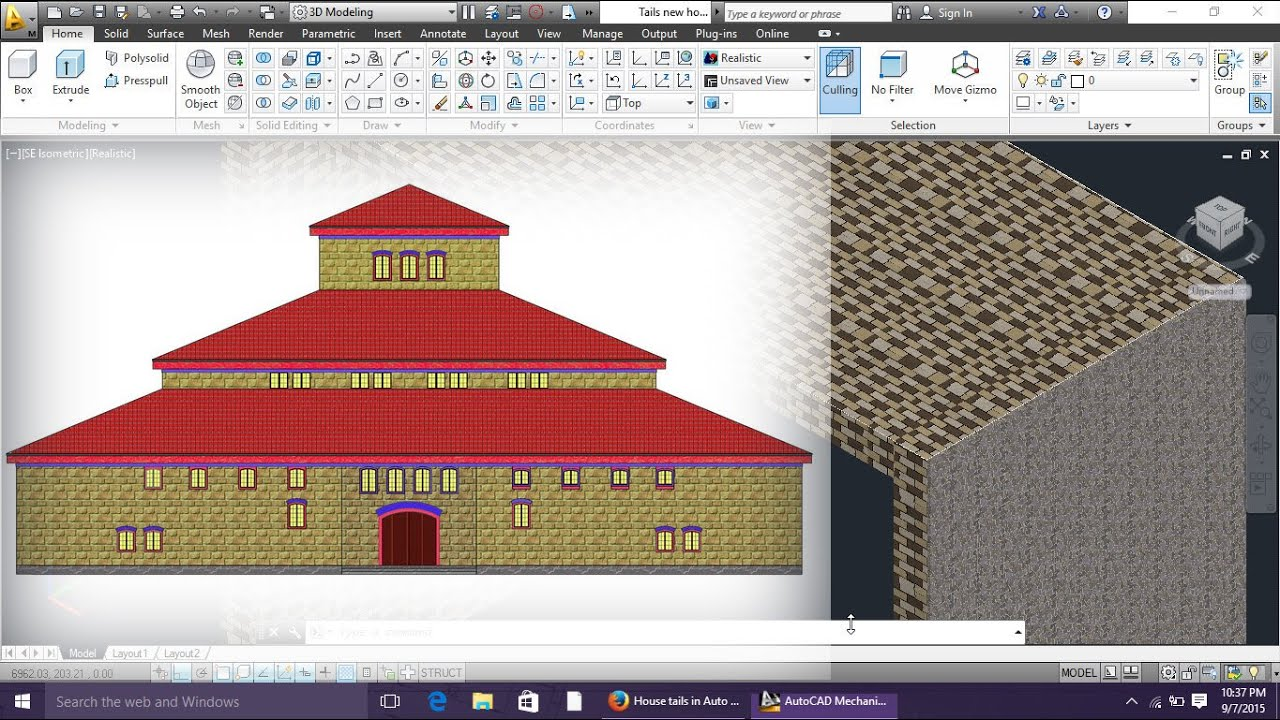 How to add wall tails on house design in autocad by engineer autocad tutorials