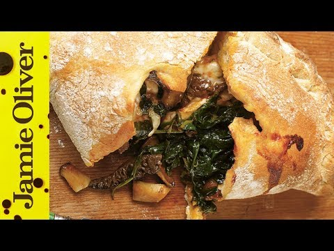Easy Mushroom & Spinach Pizza Calzone Recipe | Jamie Oliver