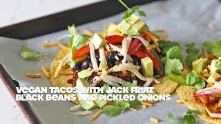 Vegan Tacos Recipes with Jackfruit and Black Beans