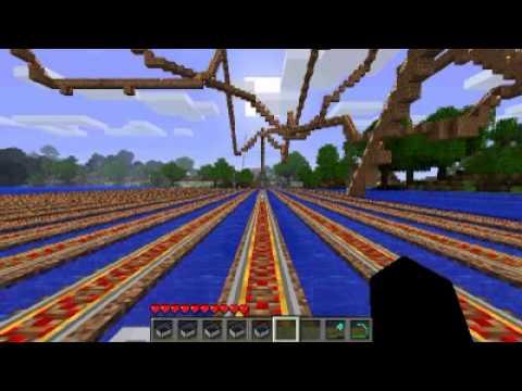 Minecraft Roller Coaster Build