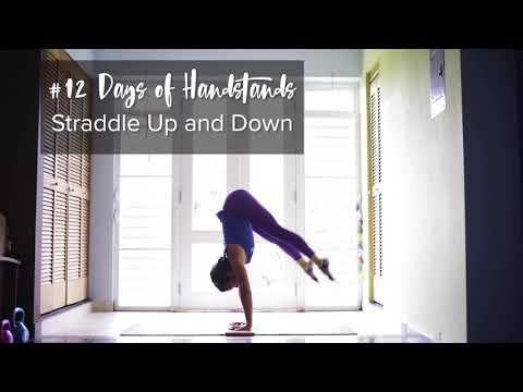 Straddle Up | YogaSlackers 12 Days of Handstands