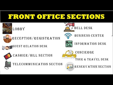 Hotel Front Office: Sections/Sub-Departments