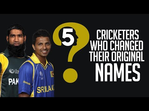 5 Cricketers Who Changed their Original Names