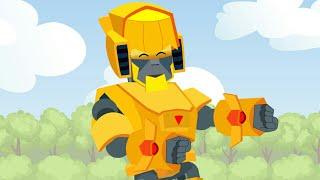 Brawl Sternen Animation   GOLD-MECHA-BO vs CARL (Parodie)